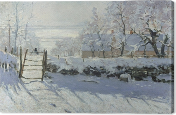 Tableau sur toile Claude Monet - la Magpie - Reproductions