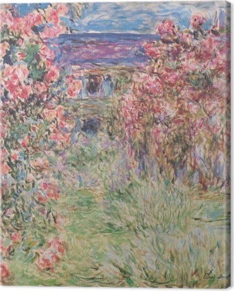 Tableau sur toile Claude Monet - La Maison entre les roses - Reproductions