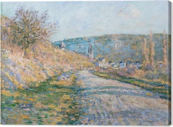 Tableau sur toile Claude Monet - La route de Vétheuil - Reproductions