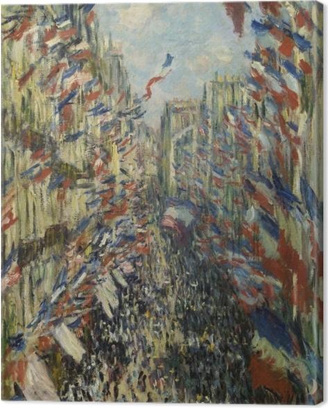 Tableau sur toile Claude Monet - La Rue Montorgueil - Reproductions