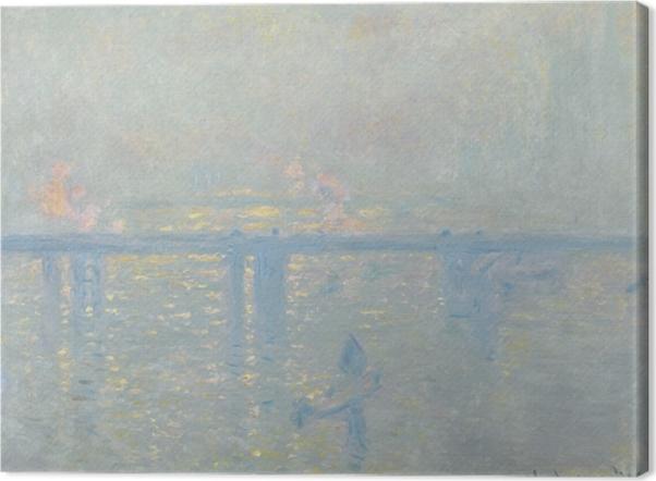 Tableau sur toile Claude Monet - La Tamise à Charing-Cross - Reproductions