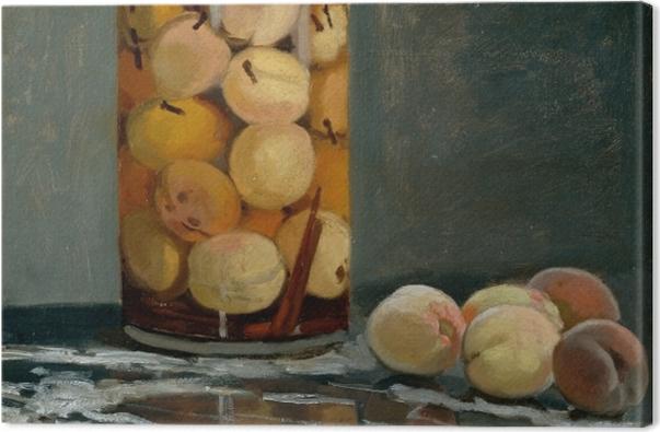 Tableau sur toile Claude Monet - Le bocal de pêches - Reproductions