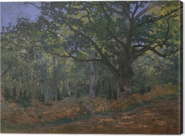 Tableau sur toile Claude Monet - Le chêne au Bas-Bréau - Reproductions