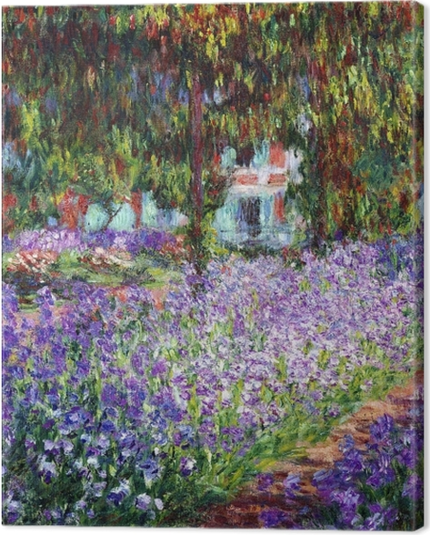 Tableau sur toile Claude Monet - Le Jardin de l'artiste à Giverny - Reproductions