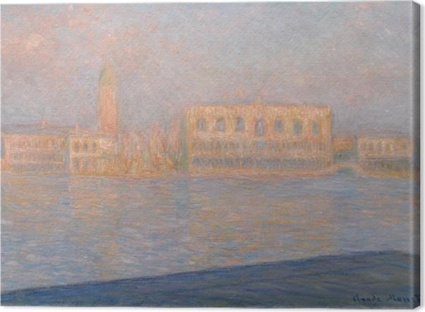 Tableau sur toile Claude Monet - Le palais des Doges vu de San Giorgio Maggiore - Reproductions