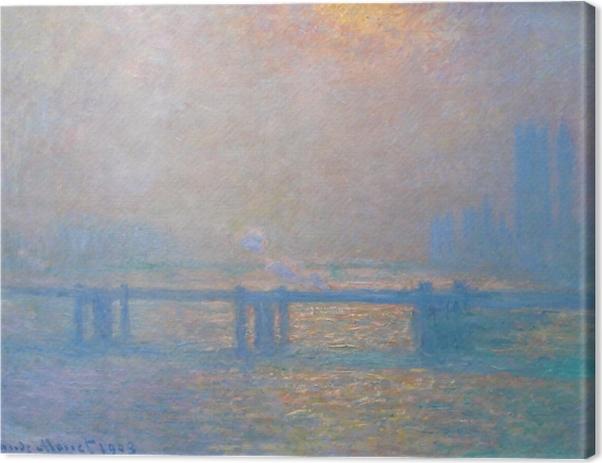 Tableau sur toile Claude Monet - Le Pont de Charing Cross - Reproductions