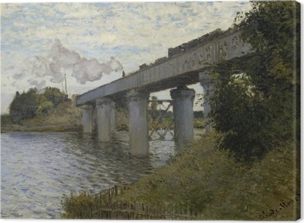 Tableau sur toile Claude Monet - Le Pont du chemin de fer à Argenteuil - Reproductions