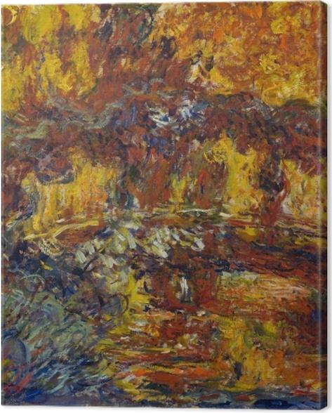 Tableau sur toile Claude Monet - Le pont japonais - Reproductions