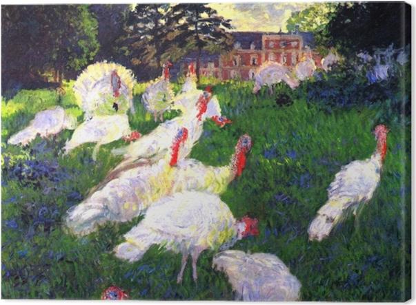 Tableau sur toile Claude Monet - Les Dindons - Reproductions