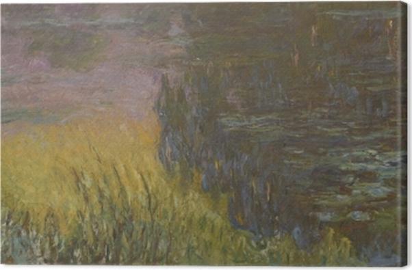 Tableau sur toile Claude Monet - Les Nymphéas : Soleil couchant - Reproductions