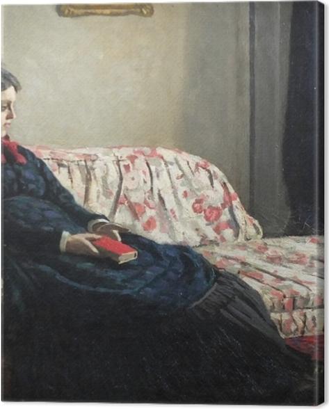 Tableau sur toile Claude Monet - Méditation. Madame Monet au canapé - Reproductions