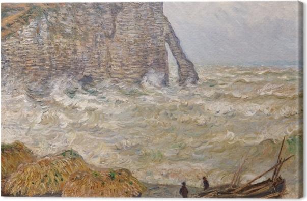 Tableau sur toile Claude Monet - Mer agitée à Étretat - Reproductions