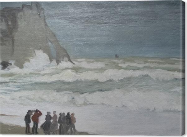 Tableau sur toile Claude Monet - Mer agitée à Etretat - Reproductions