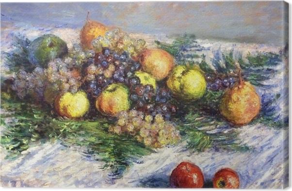 Tableau sur toile Claude Monet - Nature morte aux poires et raisins - Reproductions