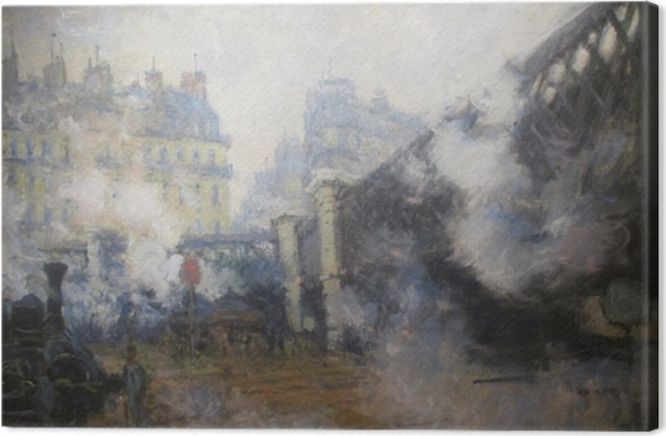 Tableau sur toile Claude Monet - Pont de l'Europe, gare Saint-Lazare - Reproductions