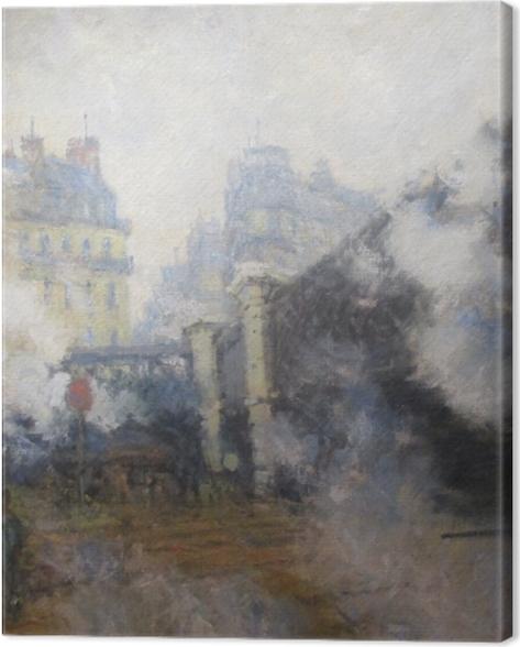 Tableau sur toile Claude Monet - Pont de l'Europe, gare Saint-Lazare - Reproductions