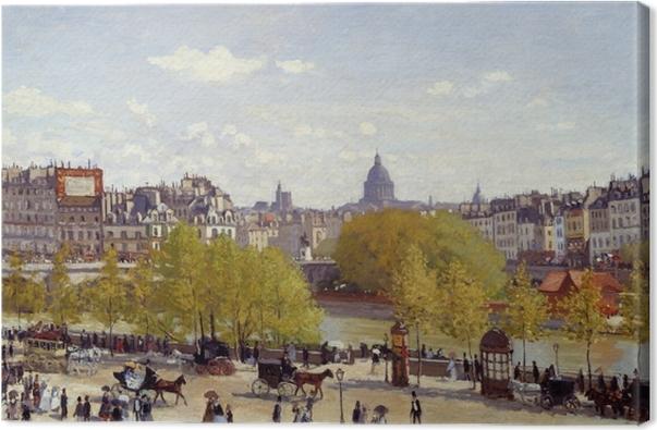 Tableau sur toile Claude Monet - Quai du Louvre - Reproductions