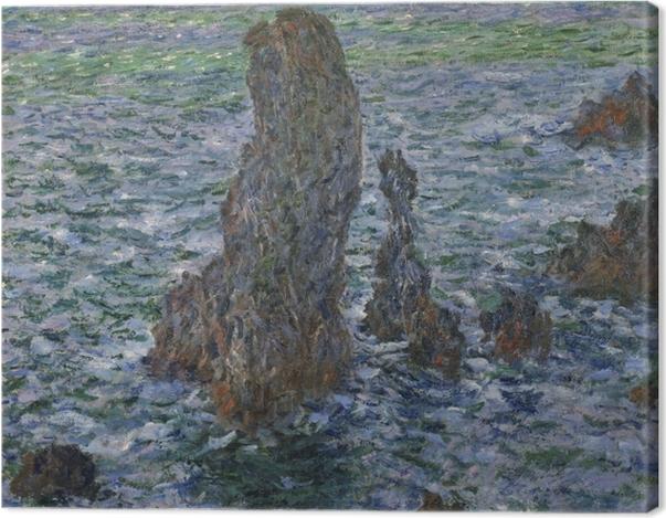Tableau sur toile Claude Monet - Rochers à Belle-Île, Port-Domois - Reproductions