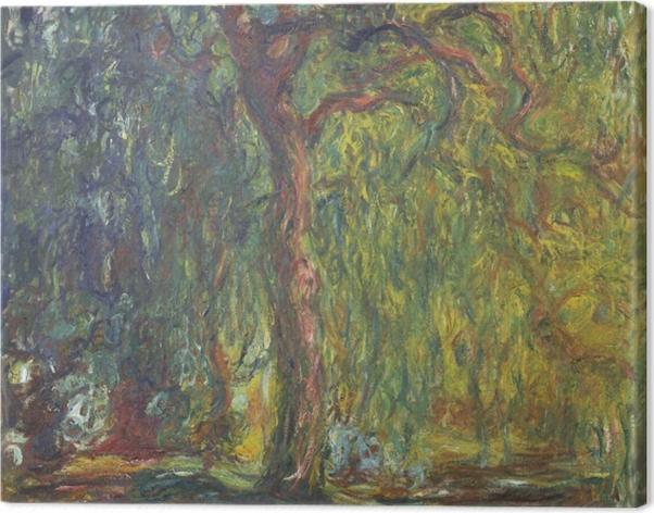 Tableau sur toile Claude Monet - Saule pleureur - Reproductions