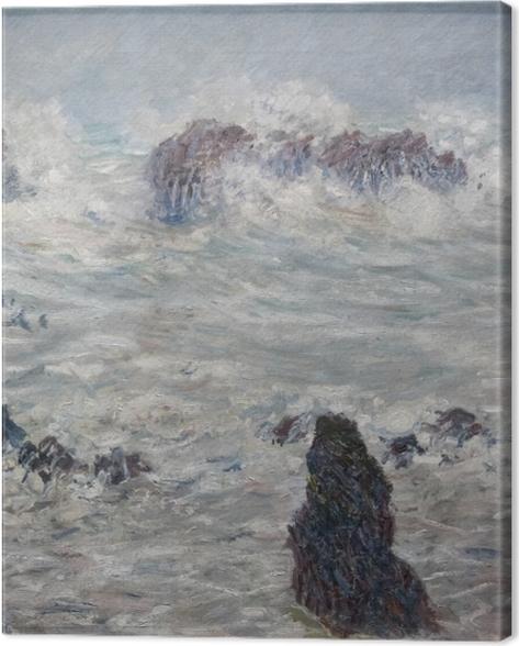 Tableau sur toile Claude Monet - Tempête, côtes de Belle-Ile - Reproductions