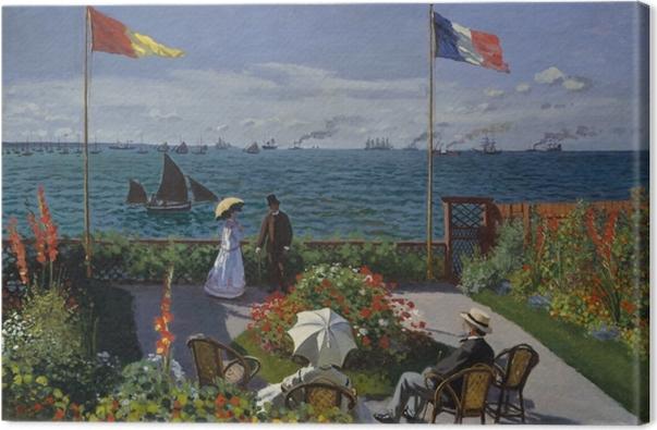 Tableau sur toile Claude Monet - Terrasse à Sainte-Adresse - Reproductions