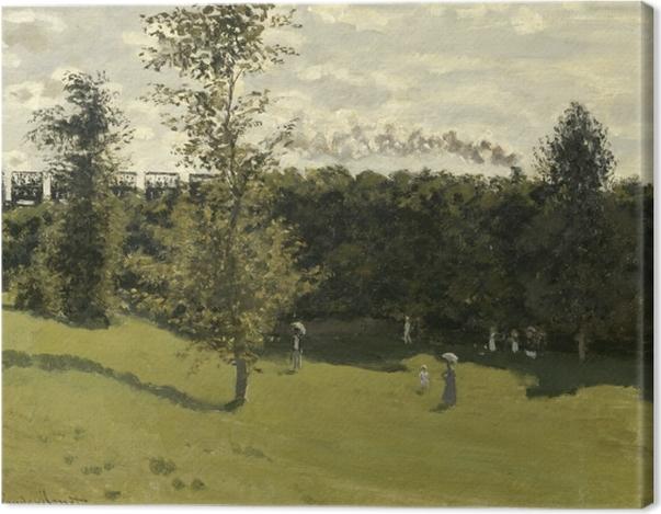 Tableau sur toile Claude Monet - Train dans la campagne - Reproductions