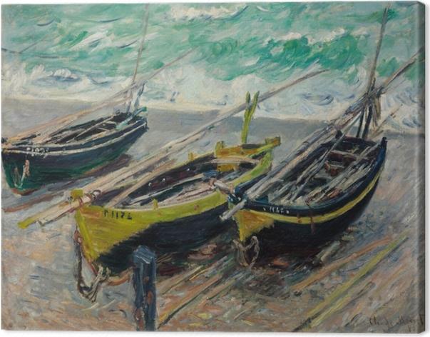 Tableau sur toile Claude Monet - Trois bateaux de pêche - Reproductions