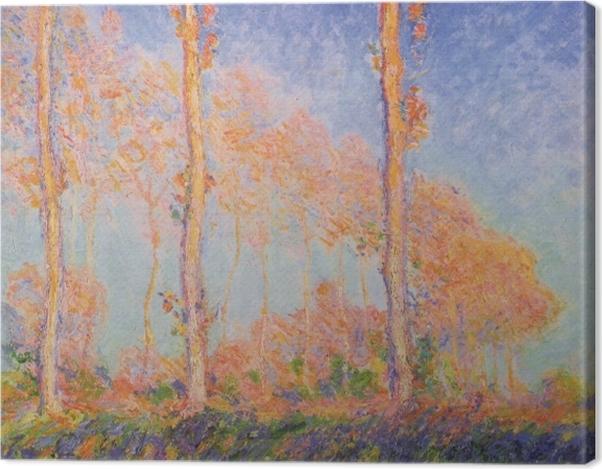 Tableau sur toile Claude Monet - Trois Peupliers en automne - Reproductions