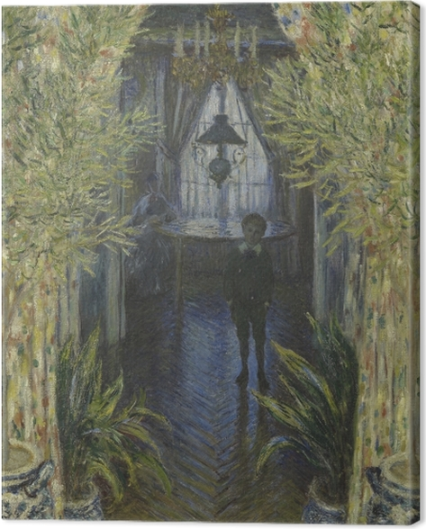 Tableau sur toile Claude Monet - Un coin d'appartement - Reproductions