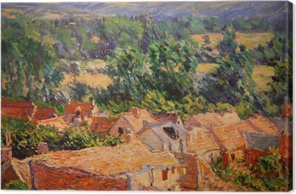 Tableau sur toile Claude Monet - Vue du village de Giverny - Reproductions