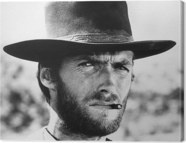 Tableau sur toile Clint Eastwood - Criteo