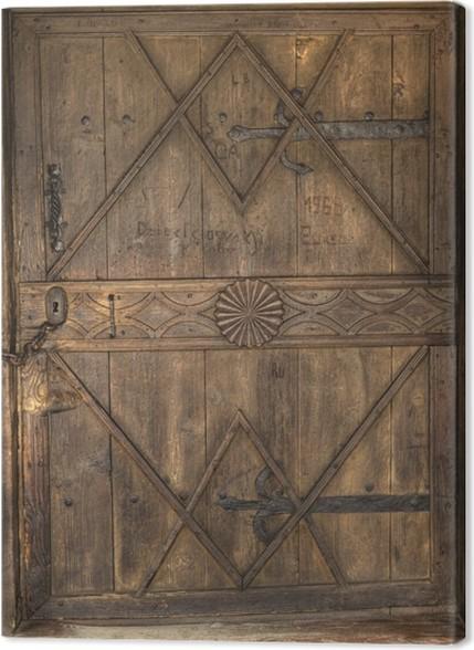 Tableau sur toile Close-up de vieilles portes en bois • Pixers ...