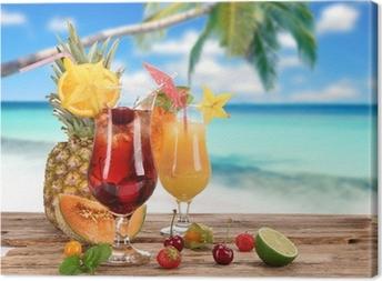 Tableau sur toile Cocktails sur la plage
