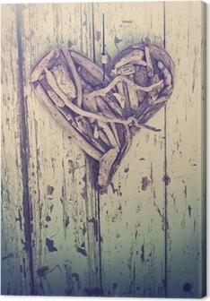 Sticker Coeur bois flotté sur le millésime mur • Pixers® - Nous ...