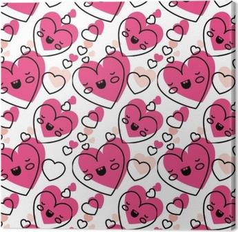 Papier Peint Coeur Mignon Amour Kawaii Modèle Vector