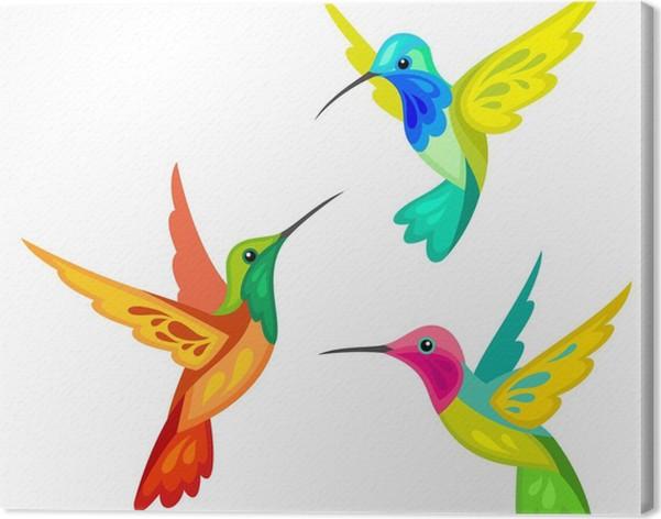tableau sur toile colibris stylis s pixers nous vivons pour changer. Black Bedroom Furniture Sets. Home Design Ideas