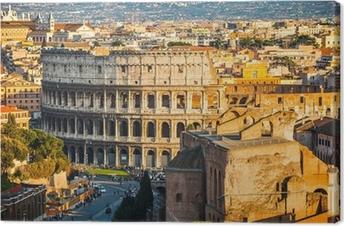 Tableau sur toile Colisée au coucher du soleil