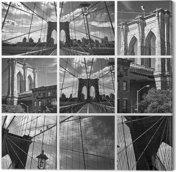 Tableaux sur toile ville noir et blanc pixers nous - Toile pont de brooklyn ...