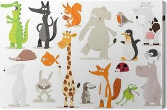 Tableau sur toile Collection d'animaux pour enfants