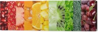 Tableau sur toile Collection de différents fruits et légumes