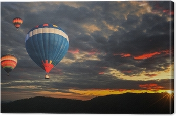 Tableau sur toile Colorful Hot Air Balloon