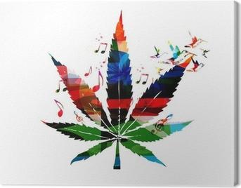 Image Cadeau HHZ-1K islandburner Tableau Tableaux sur Toile Fond de Closeup Feuille de Marijuana Cannabis Fond de Nature Bas cl/é Poster