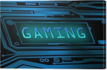 Tableau sur toile Concept Gaming.