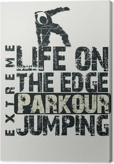 Tableau sur toile Concept Parkour t-shirt