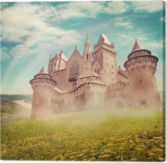 Tableau sur toile Conte de fées château de princesse