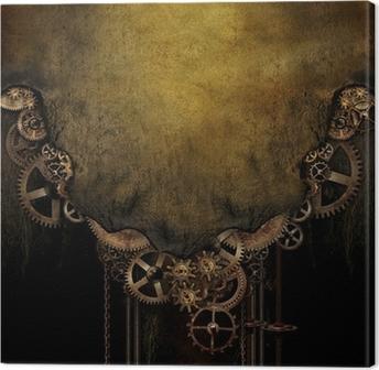 Tableau sur toile Contexte Steampunk