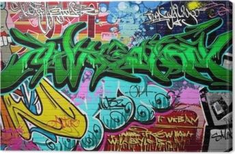Tableau sur toile Contexte Vector Graffiti Art. Urban mur