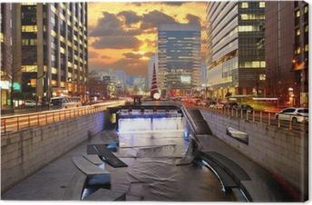 Tableau sur toile Corée du Sud Séoul Downtown Cityscape