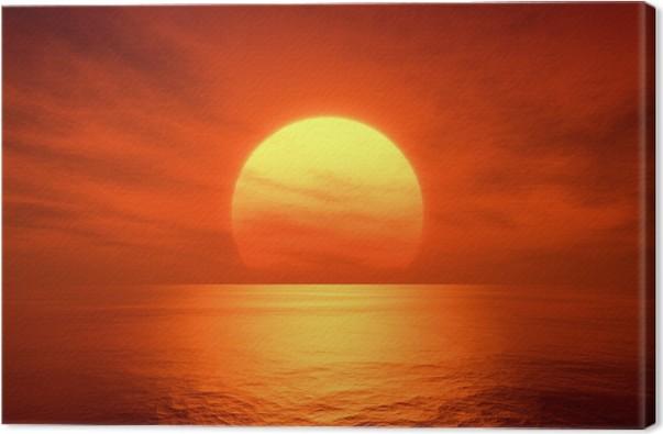tableau sur toile coucher du soleil rouge pixers nous vivons pour changer. Black Bedroom Furniture Sets. Home Design Ideas