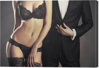 Tableau sur toile Couple sensuel